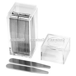 36pcs Stainless Steel Silver Collar Stays Stiffeners For Fat