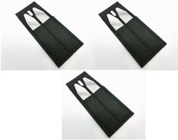 """6 Metal Collar Stays For Men Shirts in 3 Black Pouches 2.2"""""""