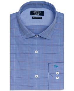 An Original Penguin Heritage Slim Fit Men's Dress Shirt Blue