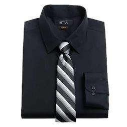 Apt. 9 Dress Shirt and Tie Men's Black XXL 18.5-19 34/35 Set