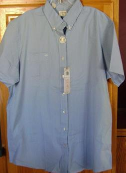 Big & Tall Men's Dockers Short Sleeve Dress Shirt Blue No Wr