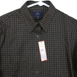Dockers Black Gray White Plaid Long Sleeve Button Up Shirt I