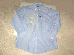 DOCKERS blue cotton dress shirt 15.5 x 32/33 NEW WITH TAGS