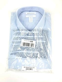 Amazon Essentials Blue Slim Fit Long Sleeve Button Front Shi
