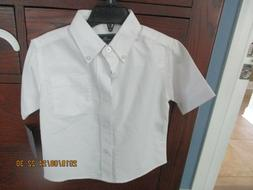 Dockers Boy's White Button Down Dress shirt Short sleeve Siz