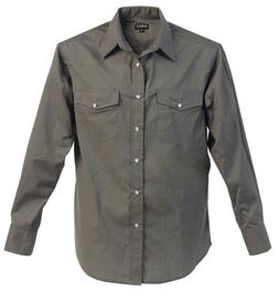 Boys Western Solid Long Sleeve Dress Shirt Pearl Snap Rodeo