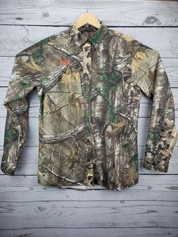 Under Armour Button Dress Long Sleeve Shirt RealTree Camo Ca