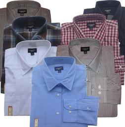 Haggar Classic-Fit Mens Cotton Casual Comfortable Long Sleev