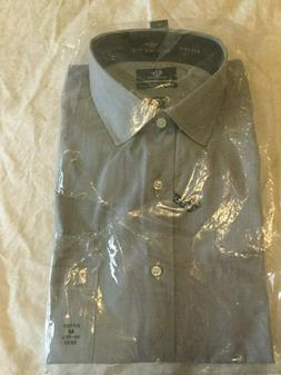 Dockers Dress Shirt Medium 15-15.5 32/33 Fitted Blue Easy Ca