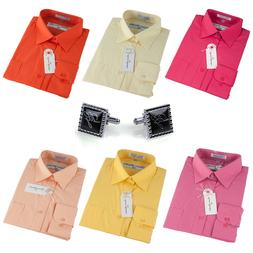Dress Shirts Men's Regular Fit Oxford Long Sleeve One Pocket
