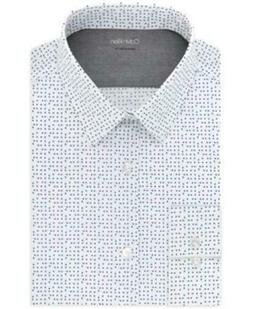 Calvin Klein Extra Slim Dot Print Dress Shirt White Mens 15-