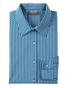 Van Heusen Flex 3 Slim Fit 4-Way Stretch Dress Shirt Aqua Pr