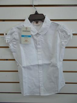 Girls Dockers Uniform White Button Down Short Sleeved Shirt