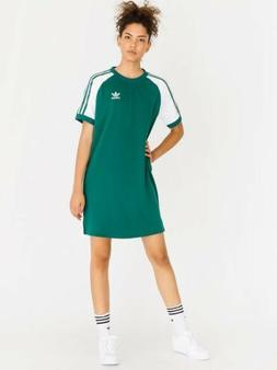 Green Adidas T Shirt Dress Size M