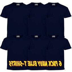 Hanes Heavy Weight Navy Blue 6 Pack Tees T Shirts
