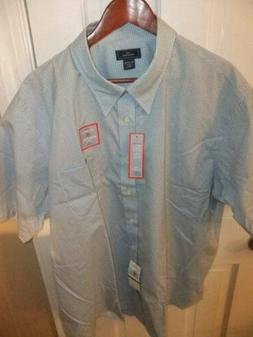 DOCKERS IRON FREE HIDDEN BUTTON DOWN COLLAR S/S SHIRT - XXL-