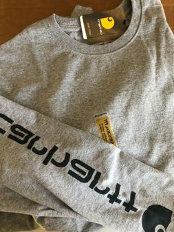 Carhartt K231 GRAY Graphic L/S T-Shirt B3GO Free & Free S/H