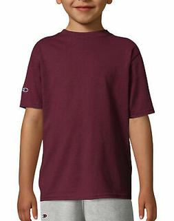 Champion Kids T Shirt Tee Double Dry Jersey Cotton Blend Boy