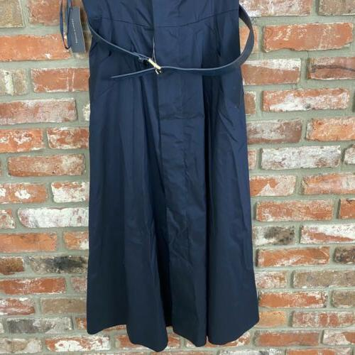 Tommy Hilfiger Belted Shirt Sleeveless Fit & Blue