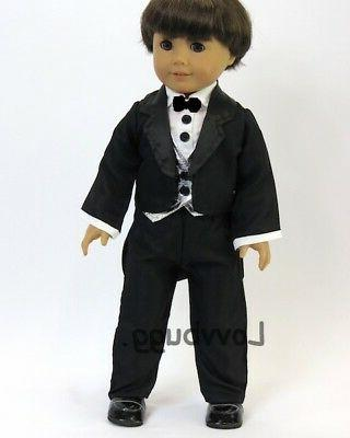 black tuxedo suit w shoes for american