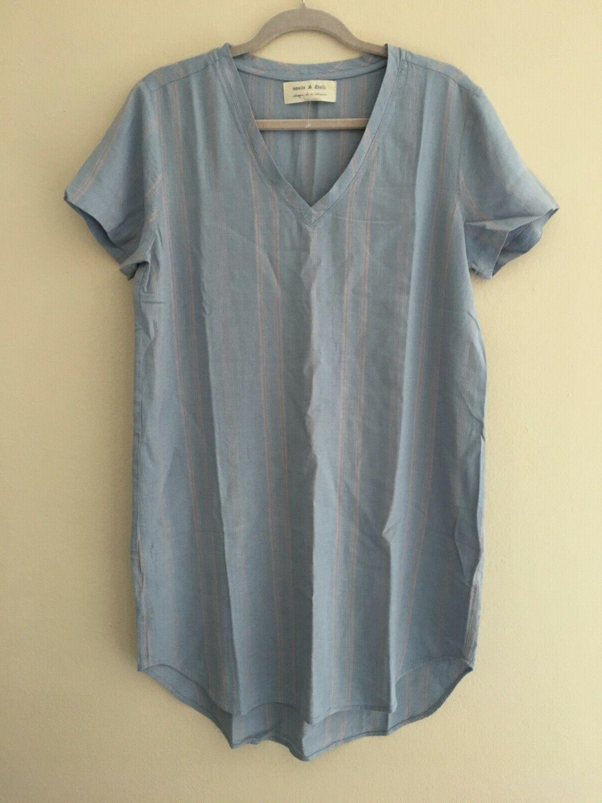 cloth and stone womens v neck t