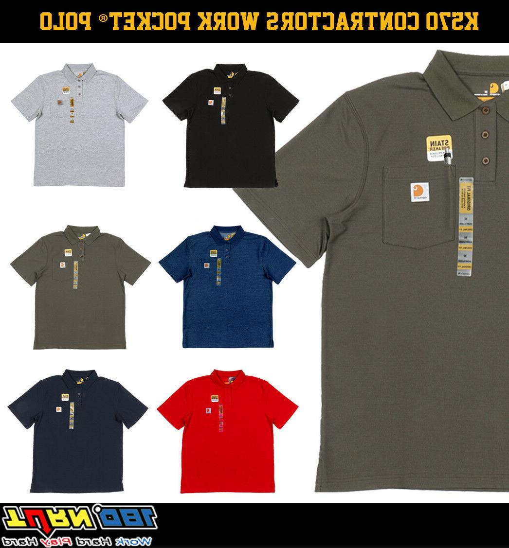 contractor s work pocket polo t shirt