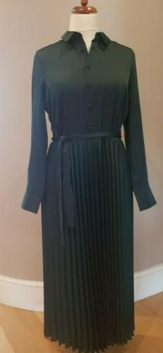 Emma Willis Collection @ Next Dark Green Satin Pleated Shirt