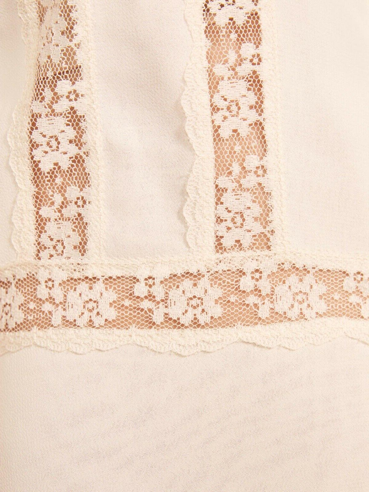 REFORMATION Ivory Sheer Inset Pintuck
