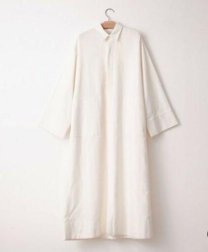 llection relaxed oversized shirt dress ivory tton