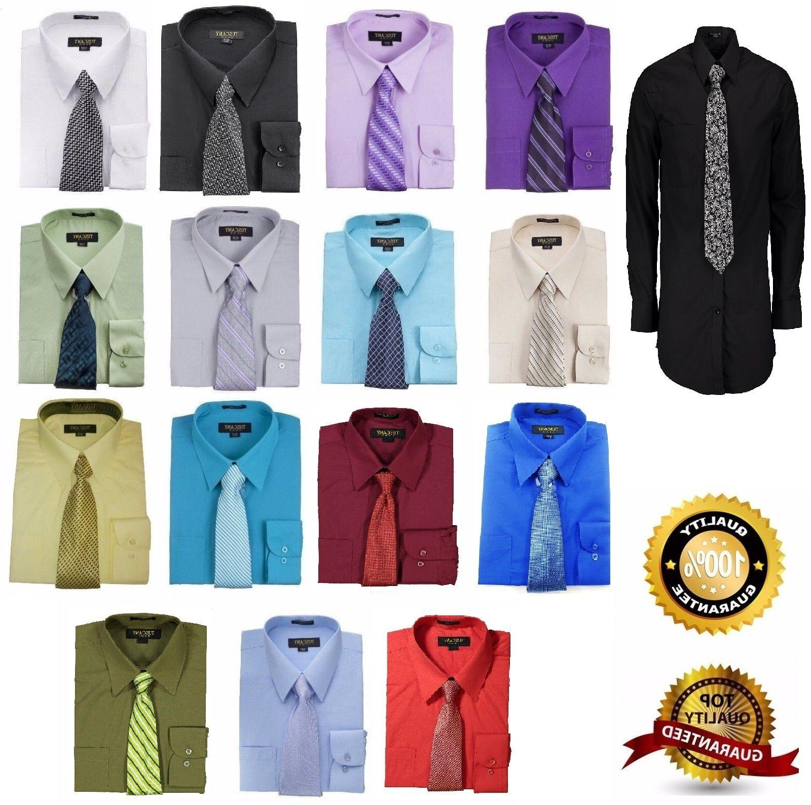 Men's Shirts Matching Set Tie Set