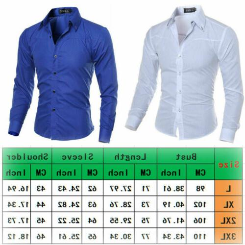 Men's Luxury Casual Shirt Long Sleeve Slim Fit Business Tops