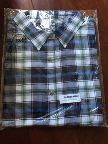 Men's Casual Country Long Plaid Shirt Down