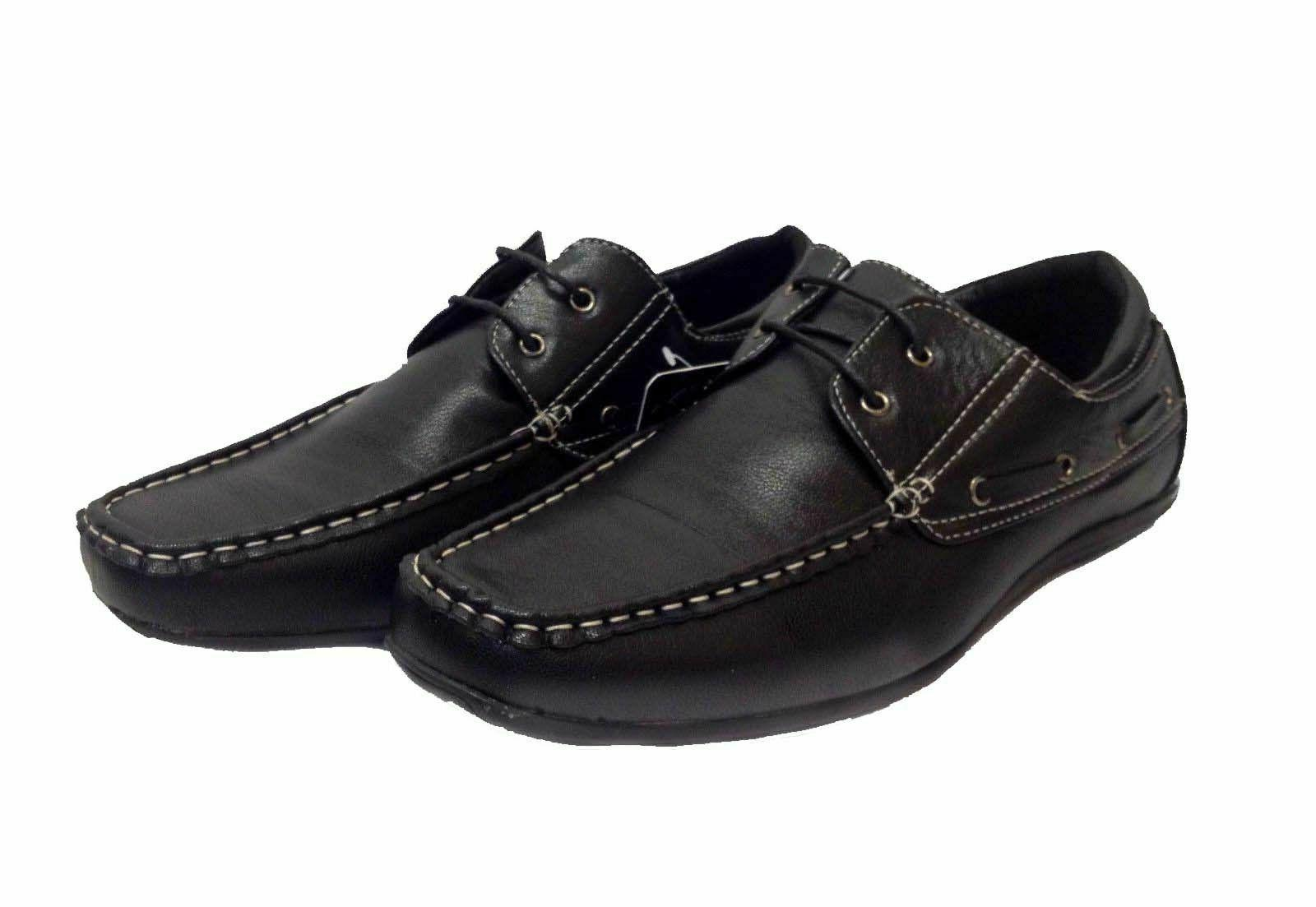 mens italian lace up casual smart loafers