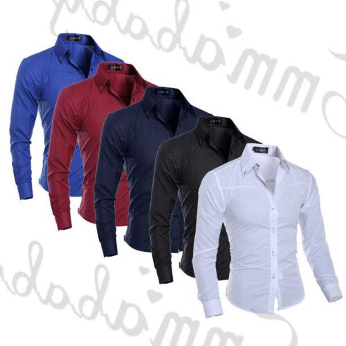 New Mens Luxury Casual Long Shirts