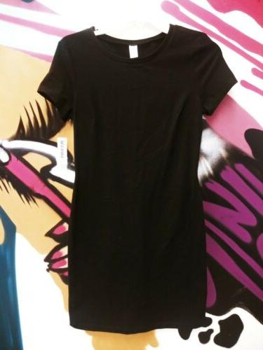 new women s s black fitted cotton