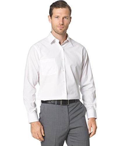 """Fitted Solid Dress Shirt, 15"""" Neck Sleeve"""