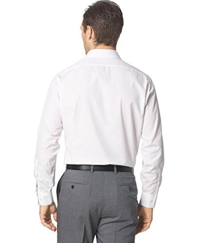 """Van Men's Fitted Solid Point Dress Neck 32""""-33"""""""