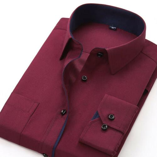New Mens Luxury Stylish Casual Fit Casual Sleeve
