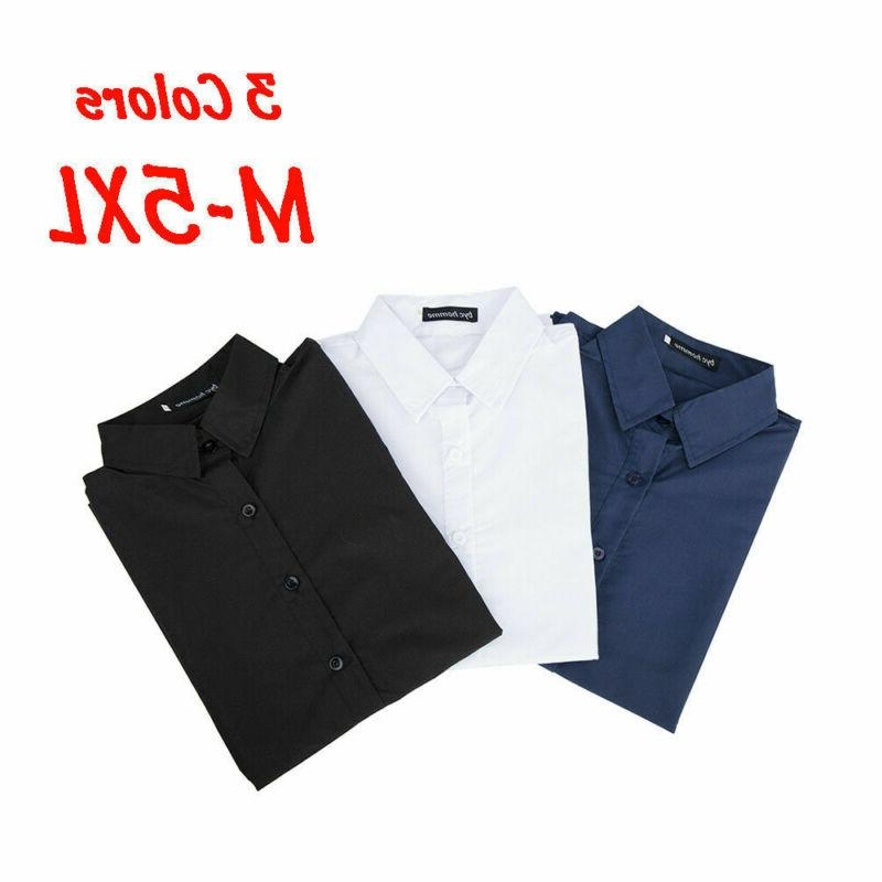 US Casual Fit T-Shirts Formal Solid Tops