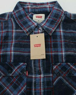 Levi's Men's Plaid Flannel Shirt Large NWT