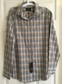 Dockers Men's Classic Fit Long Sleeve Plaid Dress Shirt 15-1
