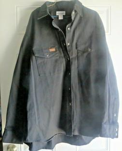 Carhartt Men's Dress/Work Black Relaxed Fit Shirt Long Sleev