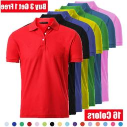 Men's Dri-Fit Causal Cotton Polo Shirt Jersey Short Sleeve S