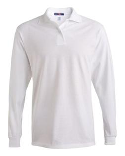 Jerzees Men's Long Sleeve Polo Jersey Poly/Cotton Shirt with
