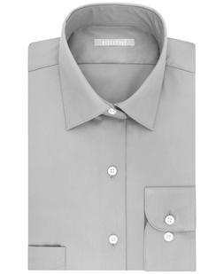 Van Heusen Men's Regular Fit Flex Collar Dress Shirt, Gray,