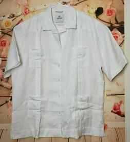 28 Palms Men's Relaxed-Fit 100% Linen 4-Pocket Pleated Guaya