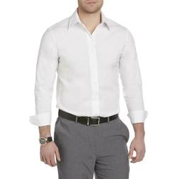 Structure Men's Slim & Stretch Fit Dress Shirt Core White NW