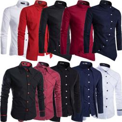 Men Dress Shirts Formal Casual Slim Fit Business Button Down