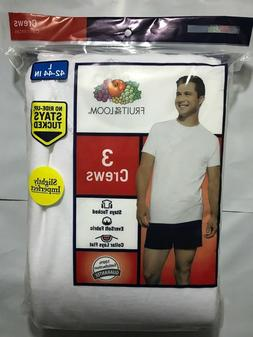 Fruit of the Loom Men's White Crew T-Shirt 6 Pack No Ride Up