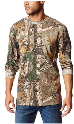Carhartt Men's Work Camo Long Sleeve T-Shirt K285